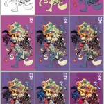 Color process of Gladstone's pin-up